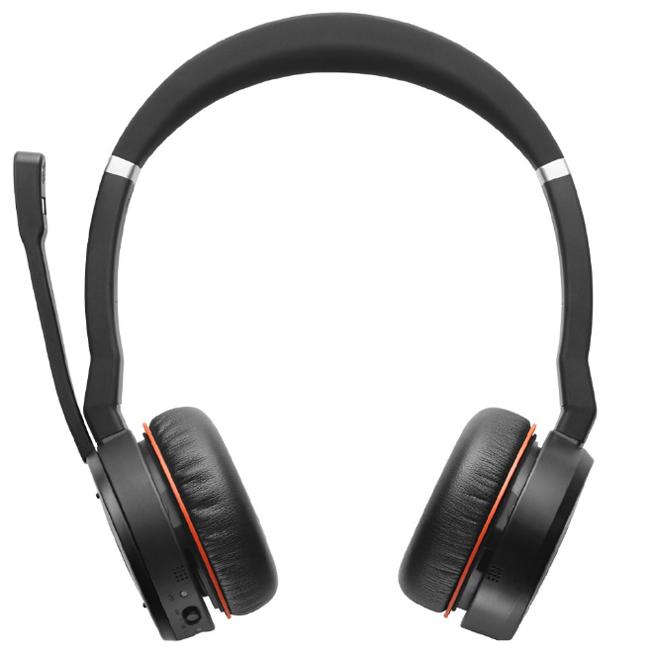 Jabra Evolve 75 Ms Stereo: Bluetooth-гарнитура с активным шумоподавлением Jabra