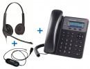 Комплект гарнитуры Jabra BIZ 1500 Duo QD и IP-телефона Grandstream GXP1610