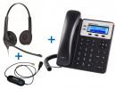 Комплект гарнитуры Jabra BIZ 1500 Duo QD и IP-телефона Grandstream GXP1620