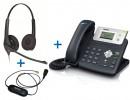 Комплект гарнитуры Jabra BIZ 1500 Duo QD и IP-телефона Yealink SIP-T21P E2
