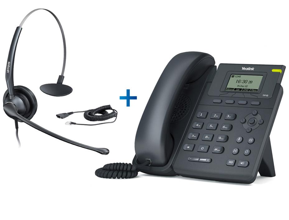 Yealink SIP-T19P E2 - Комплект гарнитуры Yealink YHS33 и IP-телефона 4309C