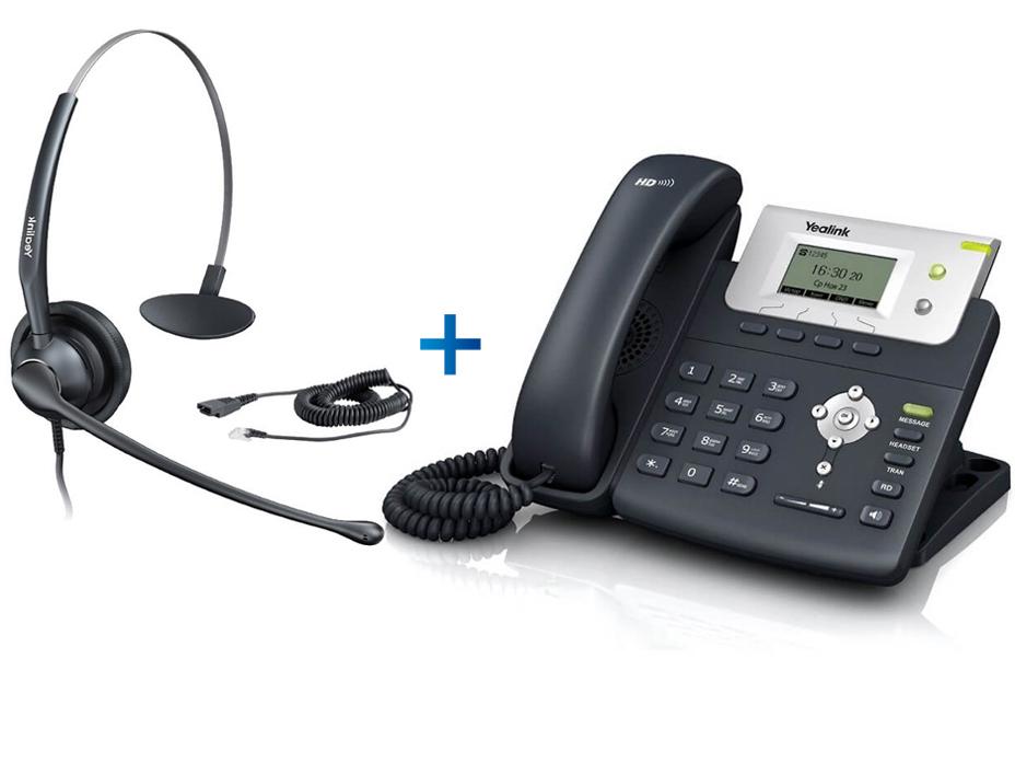 Комплект гарнитуры Yealink YHS33 и IP-телефона Yealink SIP-T21 E2 ... 22c3b0ee73372