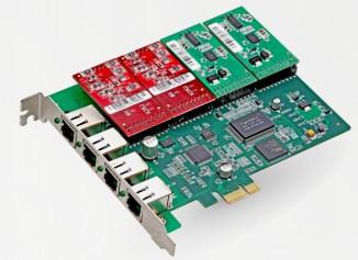Интерфейсная плата (4FXO/4FXS) Atcom AXE-400P
