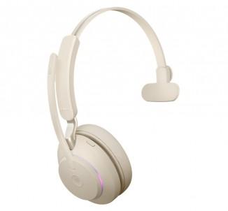 Гарнитура Bluetooth Jabra EVOLVE2 65 Link 380C UC Mono Beige