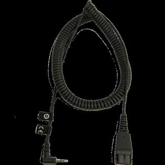 Шнур-переходник, витой Jabra QD - Klinke 2,5 мм (8800-01-46)