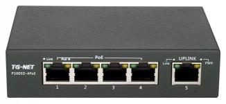 Коммутатор неуправляемый TG-NET P1005D-4PoE-60W