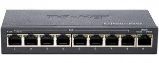 Коммутатор неуправляемый TG-NET P1009D-8PoE-120W
