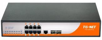Коммутатор управляемый TG-NET P3008M-8PoE-150W