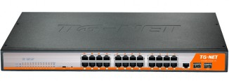 Коммутатор управляемый TG-NET P3026M-24PoE-300W-V3