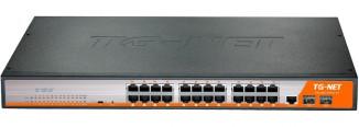 Коммутатор управляемый TG-NET P3026M-24PoE-450W-V4
