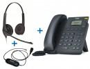 Комплект гарнитуры Jabra BIZ 1500 Duo QD и IP-телефона Yealink SIP-T19P E2