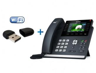 IP-телефон с Wi-FI адаптером Yealink WF40 Yealink SIP-T46S